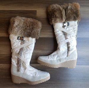 "Coach ""Mackenzie"" Rabbit Fur Boots"
